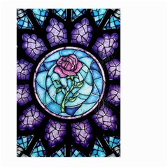 Cathedral Rosette Stained Glass Beauty And The Beast Large Garden Flag (Two Sides)