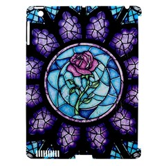 Cathedral Rosette Stained Glass Beauty And The Beast Apple iPad 3/4 Hardshell Case (Compatible with Smart Cover)