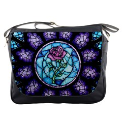 Cathedral Rosette Stained Glass Beauty And The Beast Messenger Bags