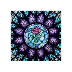 Cathedral Rosette Stained Glass Beauty And The Beast Acrylic Tangram Puzzle (4  x 4 )
