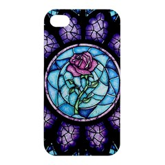 Cathedral Rosette Stained Glass Beauty And The Beast Apple iPhone 4/4S Premium Hardshell Case