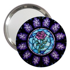 Cathedral Rosette Stained Glass Beauty And The Beast 3  Handbag Mirrors