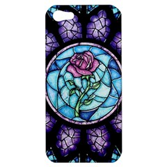 Cathedral Rosette Stained Glass Beauty And The Beast Apple iPhone 5 Hardshell Case
