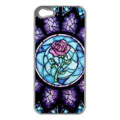 Cathedral Rosette Stained Glass Beauty And The Beast Apple iPhone 5 Case (Silver)