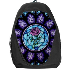 Cathedral Rosette Stained Glass Beauty And The Beast Backpack Bag