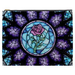 Cathedral Rosette Stained Glass Beauty And The Beast Cosmetic Bag (XXXL)