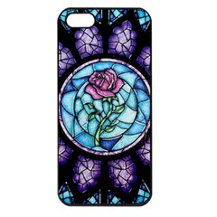 Cathedral Rosette Stained Glass Beauty And The Beast Apple iPhone 5 Seamless Case (Black)