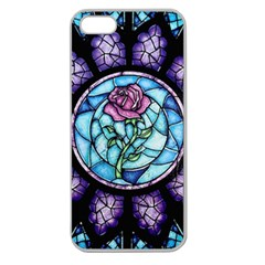 Cathedral Rosette Stained Glass Beauty And The Beast Apple Seamless iPhone 5 Case (Clear)