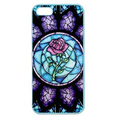 Cathedral Rosette Stained Glass Beauty And The Beast Apple Seamless iPhone 5 Case (Color)