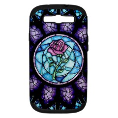 Cathedral Rosette Stained Glass Beauty And The Beast Samsung Galaxy S III Hardshell Case (PC+Silicone)
