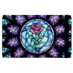 Cathedral Rosette Stained Glass Beauty And The Beast Apple iPad 3/4 Flip Case