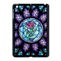 Cathedral Rosette Stained Glass Beauty And The Beast Apple iPad Mini Case (Black)
