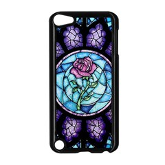 Cathedral Rosette Stained Glass Beauty And The Beast Apple iPod Touch 5 Case (Black)