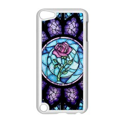 Cathedral Rosette Stained Glass Beauty And The Beast Apple iPod Touch 5 Case (White)