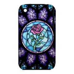 Cathedral Rosette Stained Glass Beauty And The Beast Apple iPhone 3G/3GS Hardshell Case (PC+Silicone)