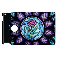 Cathedral Rosette Stained Glass Beauty And The Beast Apple iPad 3/4 Flip 360 Case