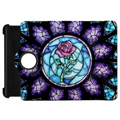 Cathedral Rosette Stained Glass Beauty And The Beast Kindle Fire HD Flip 360 Case