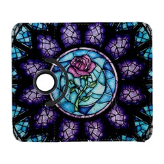 Cathedral Rosette Stained Glass Beauty And The Beast Samsung Galaxy S  III Flip 360 Case