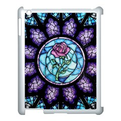 Cathedral Rosette Stained Glass Beauty And The Beast Apple iPad 3/4 Case (White)