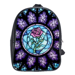 Cathedral Rosette Stained Glass Beauty And The Beast School Bags (XL)