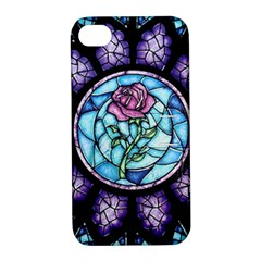 Cathedral Rosette Stained Glass Beauty And The Beast Apple iPhone 4/4S Hardshell Case with Stand