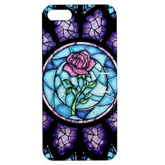 Cathedral Rosette Stained Glass Beauty And The Beast Apple iPhone 5 Hardshell Case with Stand