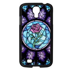 Cathedral Rosette Stained Glass Beauty And The Beast Samsung Galaxy S4 I9500/ I9505 Case (Black)