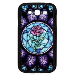 Cathedral Rosette Stained Glass Beauty And The Beast Samsung Galaxy Grand DUOS I9082 Case (Black)