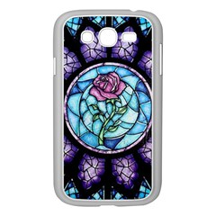 Cathedral Rosette Stained Glass Beauty And The Beast Samsung Galaxy Grand DUOS I9082 Case (White)