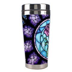 Cathedral Rosette Stained Glass Beauty And The Beast Stainless Steel Travel Tumblers