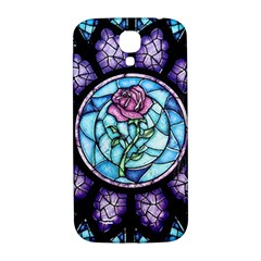 Cathedral Rosette Stained Glass Beauty And The Beast Samsung Galaxy S4 I9500/I9505  Hardshell Back Case