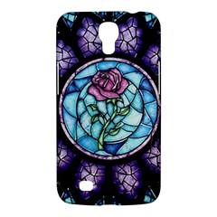 Cathedral Rosette Stained Glass Beauty And The Beast Samsung Galaxy Mega 6.3  I9200 Hardshell Case
