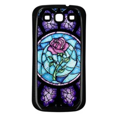 Cathedral Rosette Stained Glass Beauty And The Beast Samsung Galaxy S3 Back Case (Black)