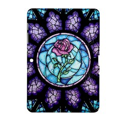 Cathedral Rosette Stained Glass Beauty And The Beast Samsung Galaxy Tab 2 (10.1 ) P5100 Hardshell Case