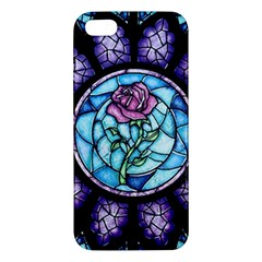 Cathedral Rosette Stained Glass Beauty And The Beast Iphone 5s/ Se Premium Hardshell Case