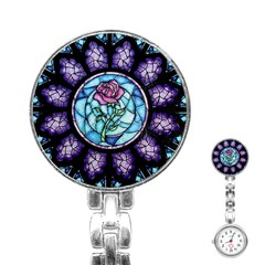 Cathedral Rosette Stained Glass Beauty And The Beast Stainless Steel Nurses Watch