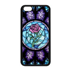 Cathedral Rosette Stained Glass Beauty And The Beast Apple iPhone 5C Seamless Case (Black)