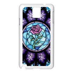 Cathedral Rosette Stained Glass Beauty And The Beast Samsung Galaxy Note 3 N9005 Case (White)