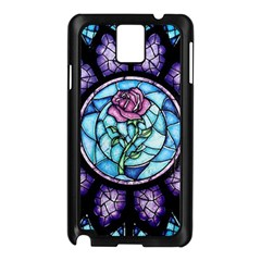 Cathedral Rosette Stained Glass Beauty And The Beast Samsung Galaxy Note 3 N9005 Case (Black)