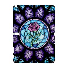 Cathedral Rosette Stained Glass Beauty And The Beast Samsung Galaxy Note 10.1 (P600) Hardshell Case