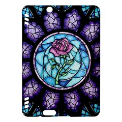Cathedral Rosette Stained Glass Beauty And The Beast Kindle Fire HDX Hardshell Case