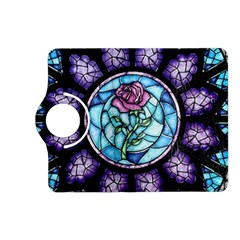 Cathedral Rosette Stained Glass Beauty And The Beast Kindle Fire HD (2013) Flip 360 Case
