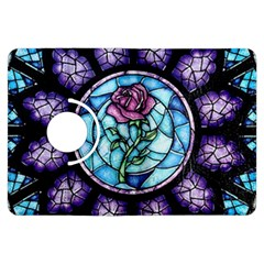 Cathedral Rosette Stained Glass Beauty And The Beast Kindle Fire HDX Flip 360 Case