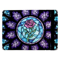 Cathedral Rosette Stained Glass Beauty And The Beast Samsung Galaxy Tab Pro 12.2  Flip Case