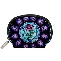 Cathedral Rosette Stained Glass Beauty And The Beast Accessory Pouches (Small)