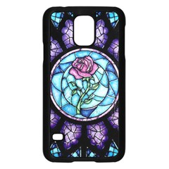 Cathedral Rosette Stained Glass Beauty And The Beast Samsung Galaxy S5 Case (Black)