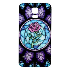 Cathedral Rosette Stained Glass Beauty And The Beast Samsung Galaxy S5 Back Case (White)