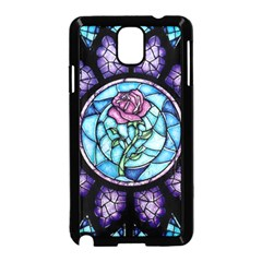 Cathedral Rosette Stained Glass Beauty And The Beast Samsung Galaxy Note 3 Neo Hardshell Case (Black)