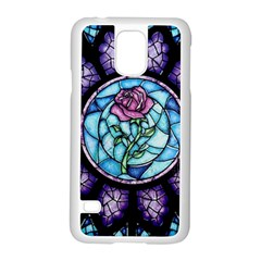 Cathedral Rosette Stained Glass Beauty And The Beast Samsung Galaxy S5 Case (White)