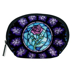 Cathedral Rosette Stained Glass Beauty And The Beast Accessory Pouches (Medium)